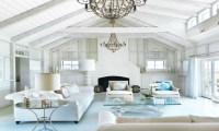 Cottage Beach House Living Room Beach Cottage Living Rooms ...