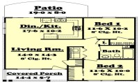 850 Sq FT Ranch House 850 Sq Ft House Plans, 850 sq ft ...