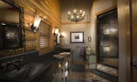 Master Bathrooms with Walk-In Showers Log Home Master ...