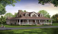 Country House Plans with Porches One Story Country House