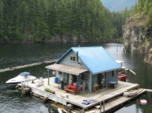 Small Floating Buildings House Cabin Lake