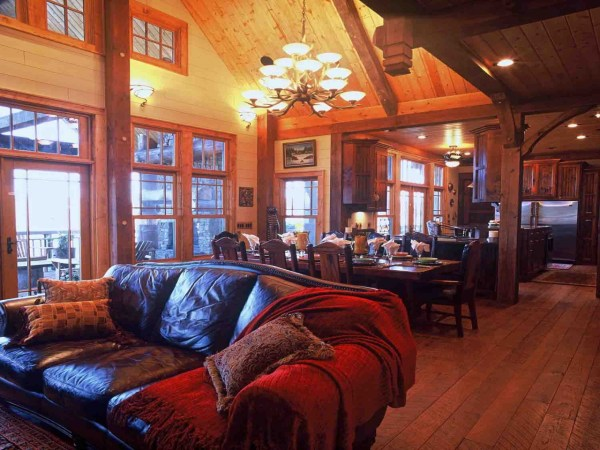 Mountain Timber Frame Home Interiors Small