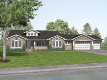 Craftsman Style Ranch Home Plans