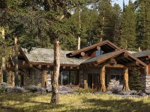 Rustic Mountain Homes Exterior Small Home