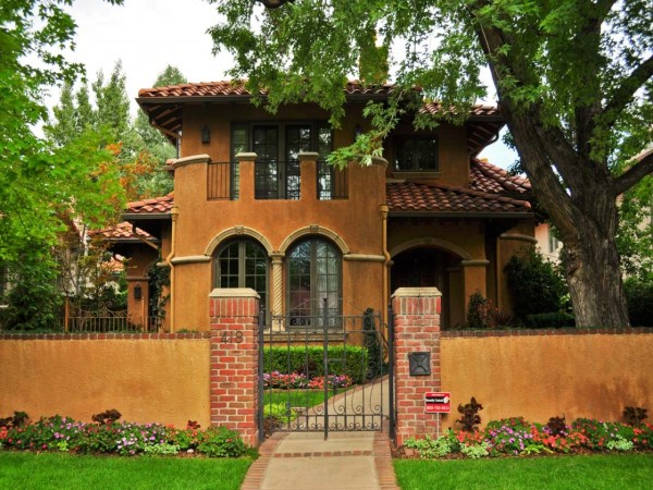 Small Spanish Style Homes Metal Roof Ranch