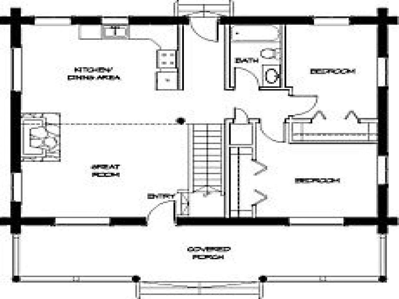 Small Cabin Floor Plans Simple Small House Floor Plans