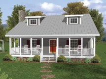 One and a Half Story House Plans with Porches