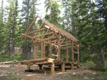 Timber Frame Homes Building Small Cabin