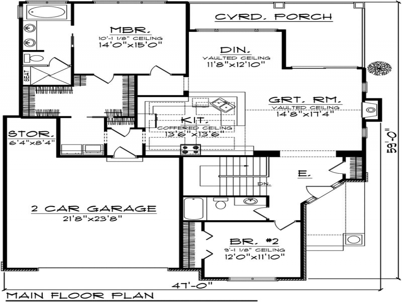 2 Bedroom Cottage House Plans 2 Bedroom House Plans With