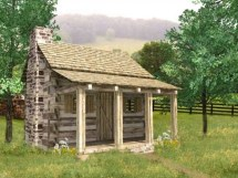 Small Log Cabin Plans Cabins