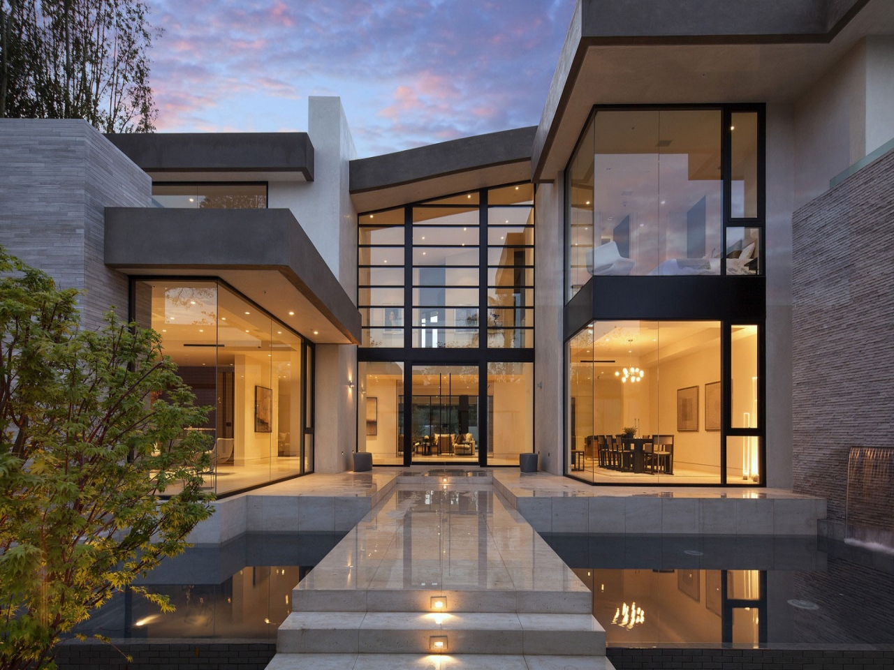 Modern House Design with Water Feature Modern Japanese