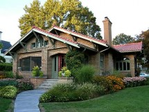 Brick Craftsman Bungalow Style Homes