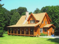 Log Cabin House Plans with Open Floor Plan Log Cabin Home