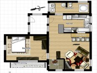 Very Small Country Homes Small One Bedroom House Floor ...