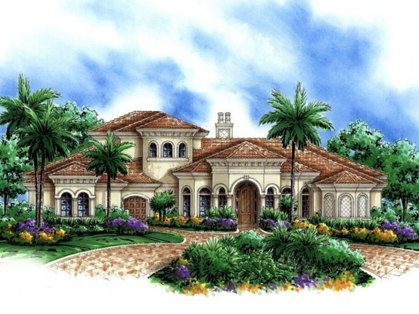 Home Luxury Mediterranean House Plans