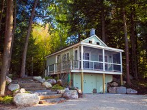 Small Lakefront Cabin Plans