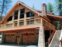 Chalet House Plans with Garage