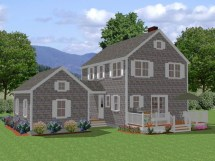 New England Colonial Style House Plans