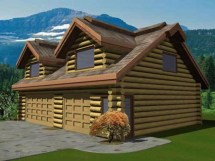 Log Cabin Plans with Garage