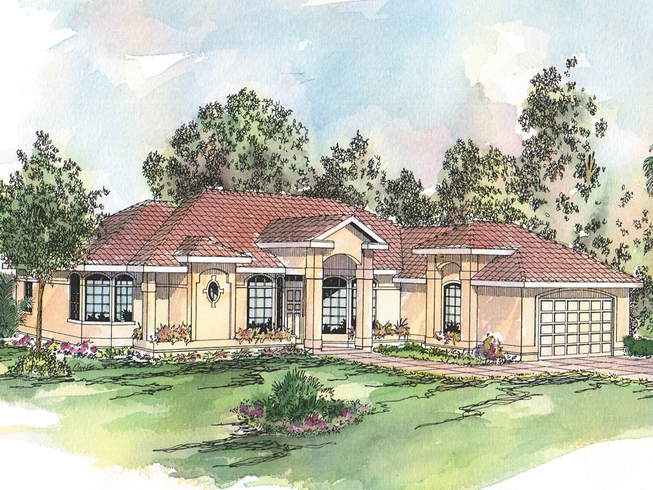 Spanish Style House Plans Small Spanish Style House Plans