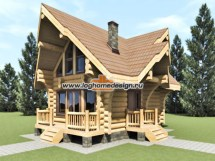 Log Cabin Cottage Home Design Rustic Kits