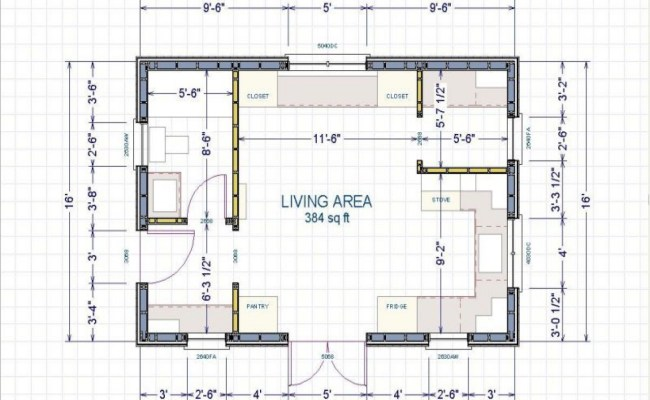 16 X 24 Cabin 16x24 Cabin Floor Plans Small Cabin Layout