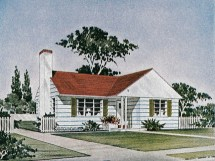 Red Brick Ranch House 1950 Style Plans