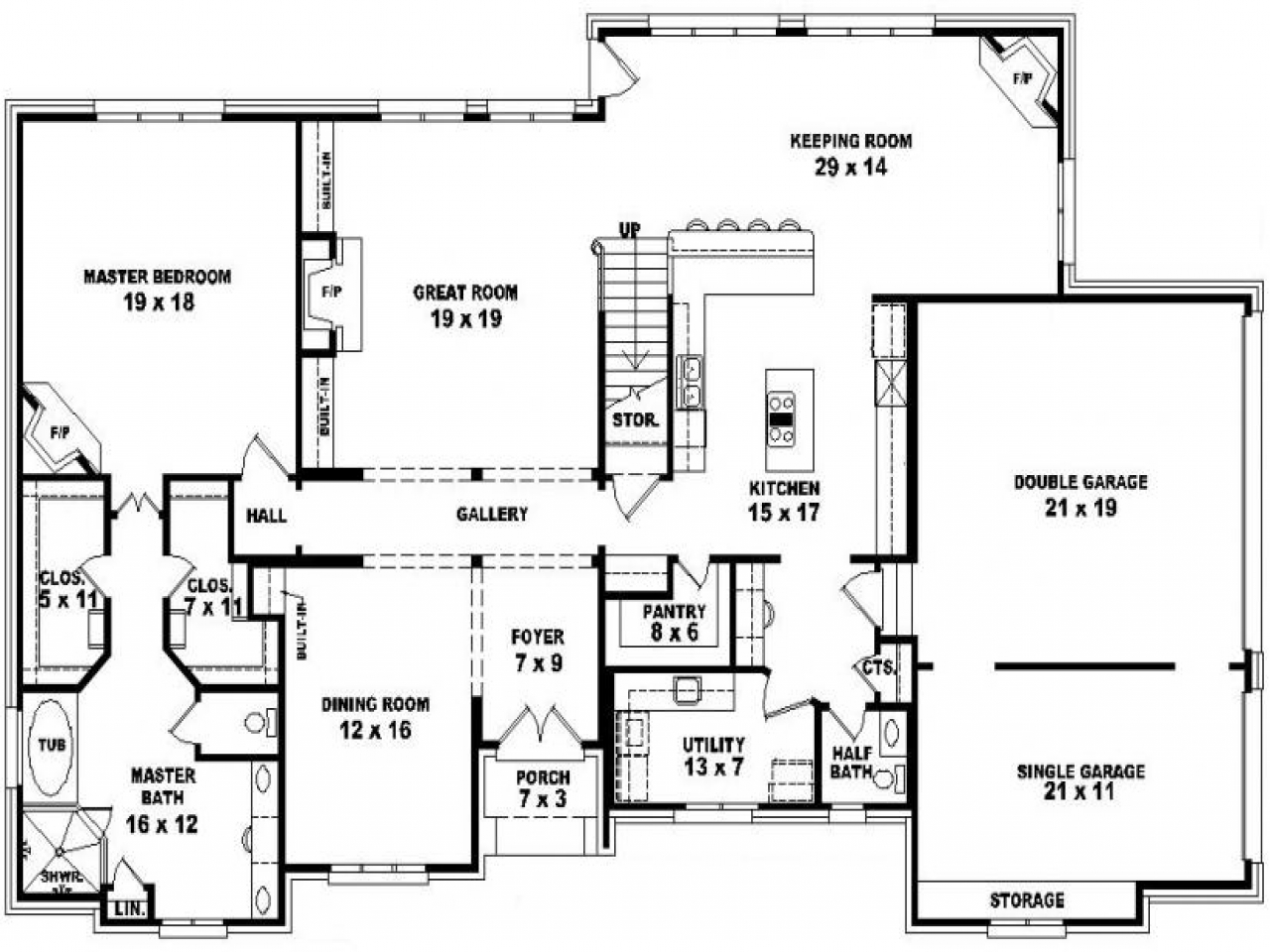 4 Bedroom 2 Story House Plans Split Bedroom 2 Story 5