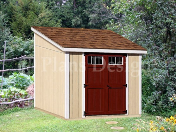 Lean Storage Shed Plans Small 10x10 Cabin