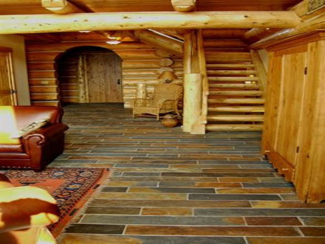 Log House Ideas Interior