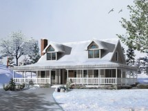Cape Cod House Plans with Wrap around Porch