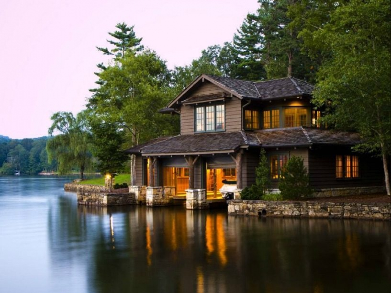 By the Lake House Lake Cabin House luxury lakefront house