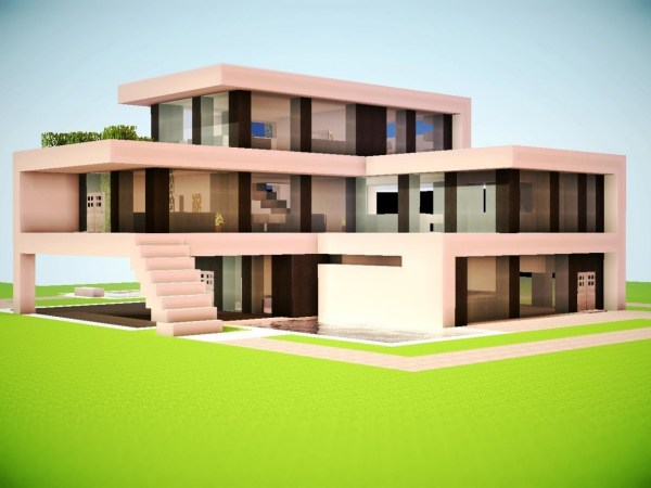 Minecraft Building Guide House Build Modern