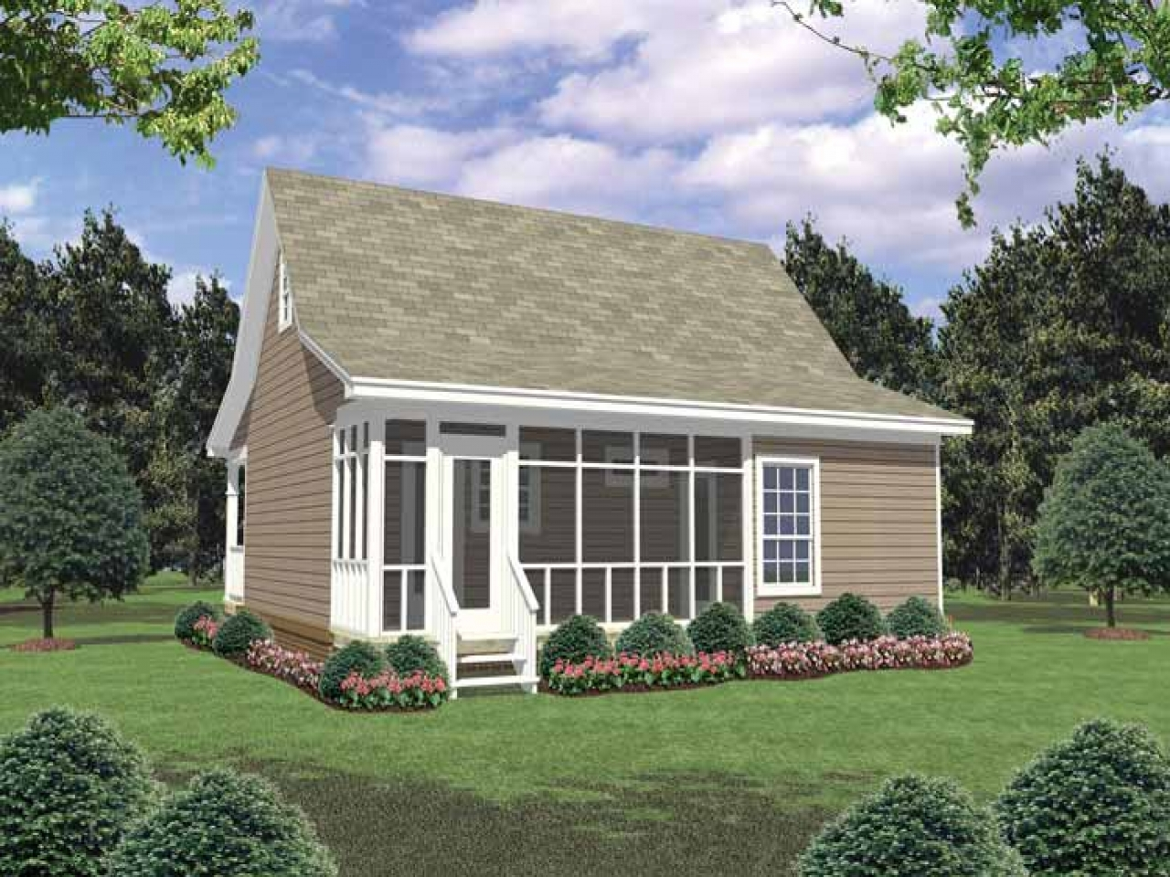 Small Country House Plans with Porches Small Guest House