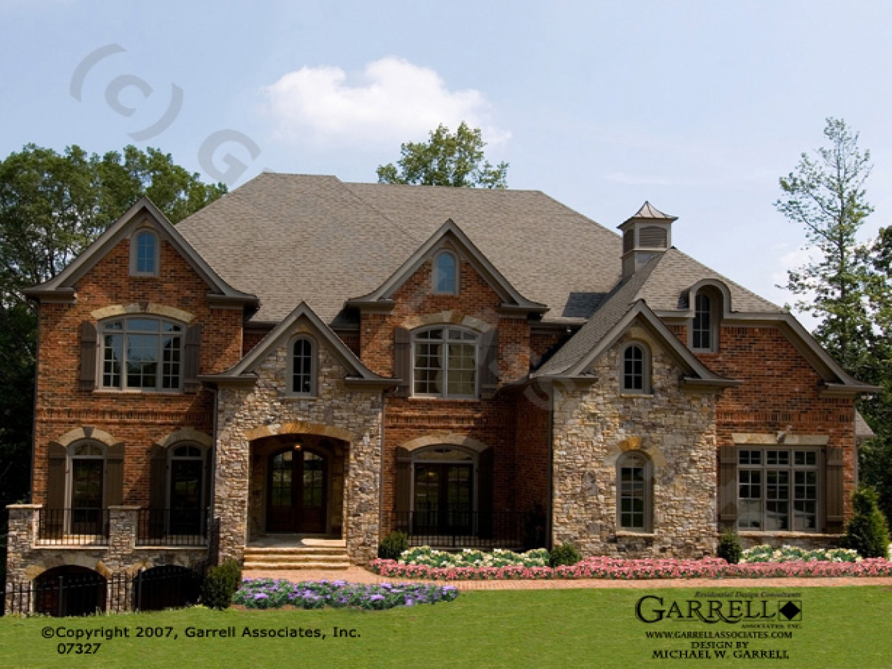 Brick  Stone Exteriors Homes Brick and Stone House Plans traditional brick house plans