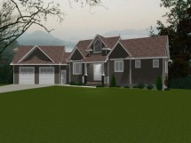 House Plans with Angled Attached Garage