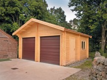 Log Cabin Garage with Apartment Plans