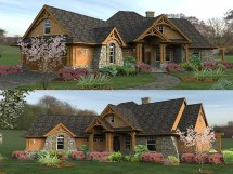 Mountain Ranch Style Home Plans