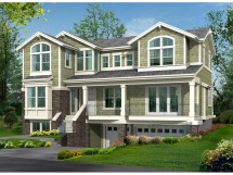 Raised House Plans Drive Under Garage Ranch