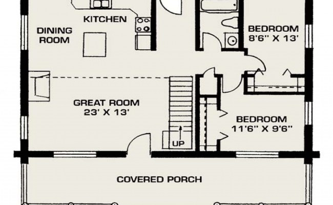 Small Log House Floor Plans Small Log Cabin Living Small