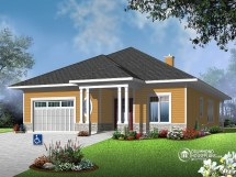 Home Wheelchair-Accessible House Plans