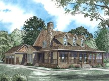 Cabin House Plans with Wrap around Porch