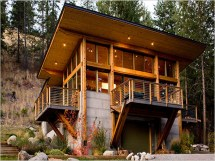 Modern Mountain Log Cabin Plans