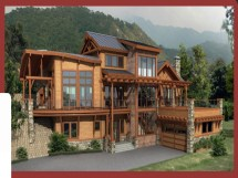 Custom Built Log Homes Home Plans