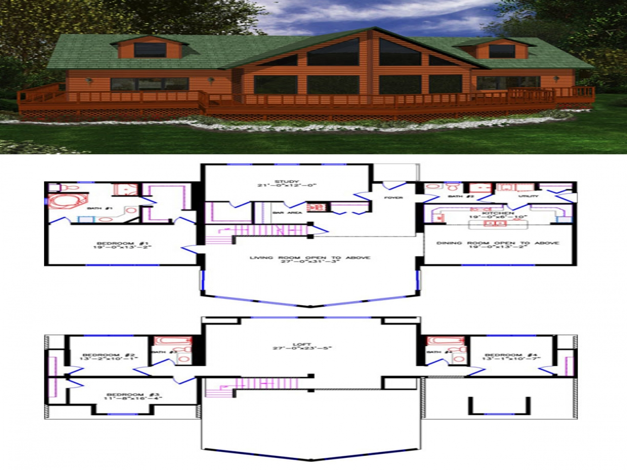 House Plans With Loft Open Loft Style House Plans Loft