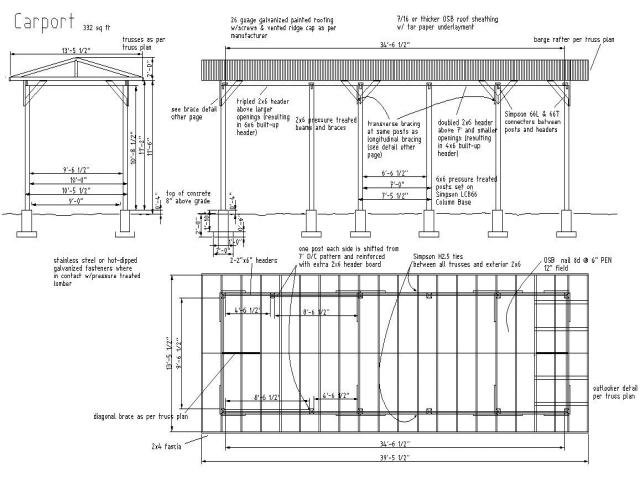 Metal Carport Plans Free RV Carport Plans, construction