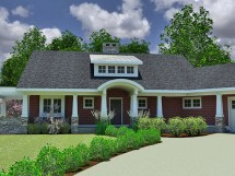 Small Craftsman Ranch House Plan