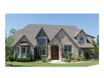 One Story French Country House Plans with Stone