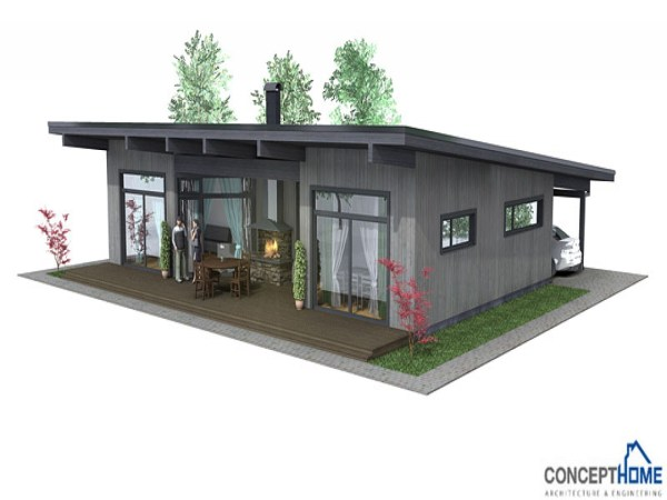 Simple Small House Affordable Modern Plan