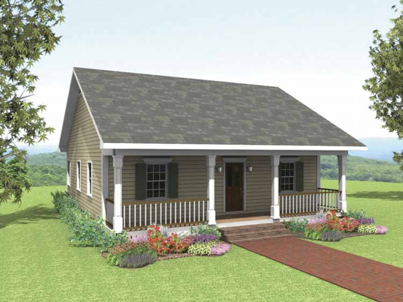 2 Bedroom Bungalow Plans Small 2 Bedroom Cottage House